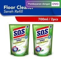 SOS Pembersih Lantai - Sereh Refill [750 mL x 2 pcs]