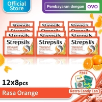 Strepsils Vitamin C 12x8 Free Kaleng Permen Strepsils