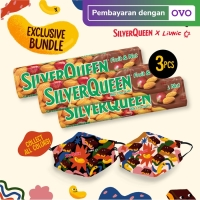 SilverQueen Fruit & Nut x Liunic (isi 3 + FREE masker Liunic)