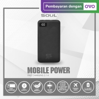 Powerbank Soul LED Fast Charging 2.1A, Ultra Light Slim 10.000 mAh