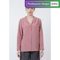 The Executive V-Neck Long Sleeves Blouse 5-BLWKEY120D131 Pink