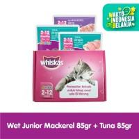 WHISKAS® Pouch Junior Tuna 85gr (2pcs) dan Junior Mackerel (1pcs)