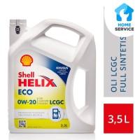 Oli Mesin Mobil LCGC Shell Helix ECO 0W-20 (3.5L)+Ganti Oli di Tempat