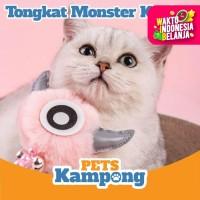 Mainan kucing Tongkat Monster mata imut premium dengan bel
