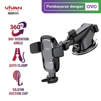 VIVAN Universal Car Holder CHS05 Suction Cup Automatic Lock Rotasi 360
