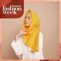 Hijab Wanita Ultimate Plain Scarf Voal Yellow Series Diario