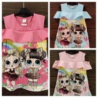 Mini Dress Sabrina Scuba Plisket Size 4,6,8 bisa diecer