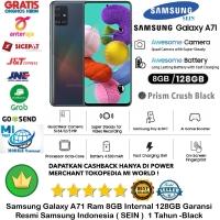 Samsung Galaxy A71 8GB/128GB A 71 8/128GB 8/128 Resmi-SEIN-Black-hitam