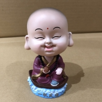 Pajangan Mobil Bobble head Model : Smiling Buddha