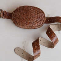 steve madden belt bag studded cognac