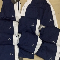 Celana panjang Air jordan navy strip putih