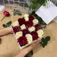 Blooming Box Flowers - Mawar/ Rose FRESH