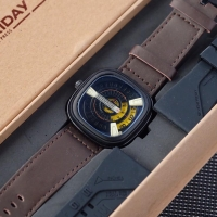 Jam tangan Pria SevenFriday Brown FREE TALI RUBBER