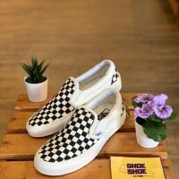 Vans Slip On Checker Board Off White Off White Black (BNIB)