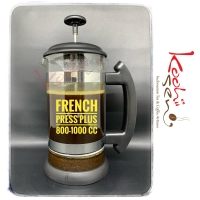 French Press Alat Coffee / Tea Maker Plunger++ with Extra Rubber Seal
