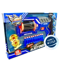 Mainan Nerf Gun Air Shoot Soft Bullet Rapid Fire Dart Blasting Pistol
