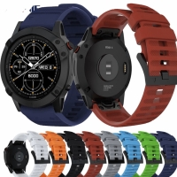 STRAP TALI JAM RUBBER SILICONE BAND QUICK EASY FIT GARMIN FENIX 5 6