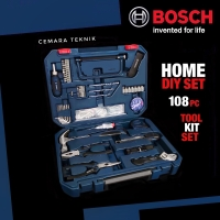 Perkakas Rumah Set Bosch 108 PC Home DIY / Tool Kit Set