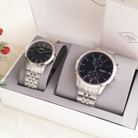 Jam tangan couple fossil fs4785 townsman chronograph stainless steel