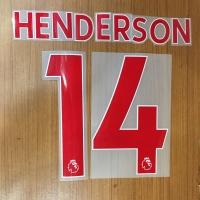 Original Nameset Liverpool Away Henderson