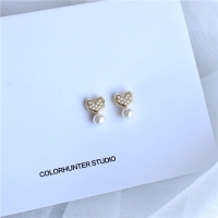 Anting korea love mutiara,anting mini mungil love hati