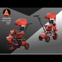 Sepeda Anak Roda Tiga Stroller Exotic Kelinci