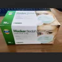 OneMed Masker Bedah Karet Earloop 3ply / One Med Masker Debu