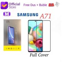 MAXFEEL Tempered Glass Full Cover Full Glue Samsung A71 Premium Glass