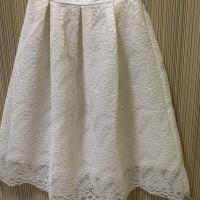 Lace Skirt rok putih wanita brokat baru Pinggang 30 Pjg 64