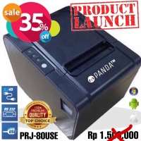 POS MINI PRINTER KASIR 80MM THERMAL PANDA PRJ-80USE (USB+SERIAL+LAN)