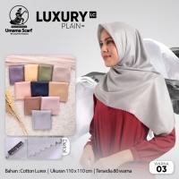 Kerudung Umama Luxury Shinar Sinar Glamour Polos Segi Empat Hijab