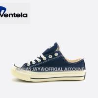 Sepatu Ventela Back 70s Low Black natural Original product