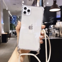 Case casing transparan tali lanyard iphone x xs max xr 11 11 pro max