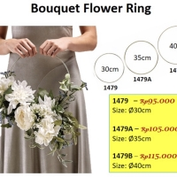Bouquet Flower Ring hoop 30cm - Handbouquet Ring - barang florist