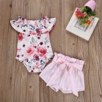 baju setelan jumper bayi import motif bunga