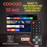 COOCAA LED TV 50 inch 50S3N SMART TV 4K ULTRA HD NETFLIX & YOUTUBE