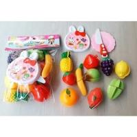 Mainan Anak Vegetables Buah Potong Isi 10 pcs 3220AB