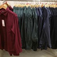 Kemeja flannel polos UNIQLO 💯% original
