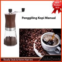 Alat Pengiling Biji Kopi Manual Mesin Coffee Grinder Halus Kasar CF76