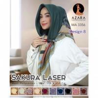 Jilbab hijab kerudung lasercut Azara motif grosir / oleh-oleh haji