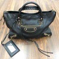Balenciaga Tas Black Gold Original