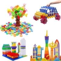Mainan Edukasi Puzzle Block Brick Bunga Puzzle Roda Susun