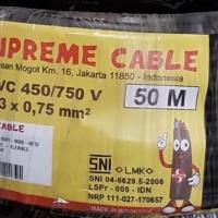 KABEL SERABUT SUPREME NYYHY 3X0.75 3 X 0.75 50 METER