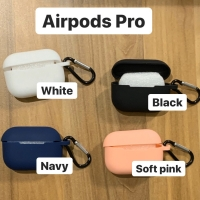 CASING SILICONE RUBBER AIRPODS PRO SILIKON KARET POLOS WITH HOOK