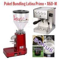 Bundling Latina X60-M + Primo Espresso + Bonus - Mesin Kopi Kedai