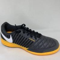 Sepatu futsal nike original LUNAR GATO 2 IC DK Smoke grey orange 2020