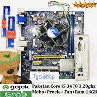 Paketan Core i5 3470 Mainboard H61 Fan intel Ram 16GB hyperX