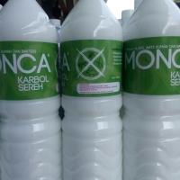 Karbol Sereh MONCA (1 Liter x 12 Botol) - Aman dan Berkualitas!
