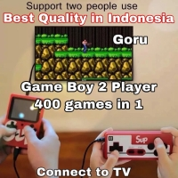 Game Boy 400 in 1 2 players pemain gameboy games + stick console anak - red