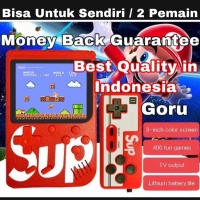 Game Boy mainan anak Retro mini Fc 400 in 1 sup Video games + stick TV
